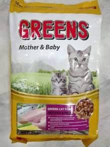 Greens Mother and Baby Cat Food Makanan Kucing 8kg