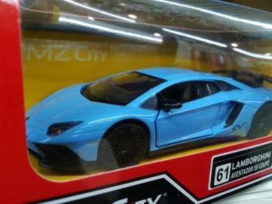Lamborghini aventador sv miami blue scale 1/32