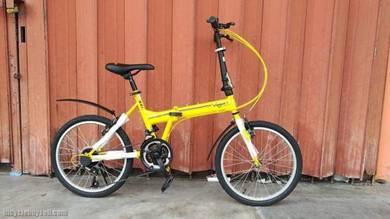 Vogue folding bike yellow color