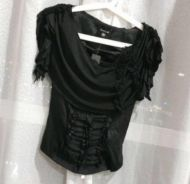 Bebe drape neck stylish top new with tag