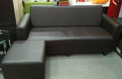 L-shape pvc sofa 3 seater #4077