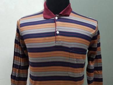 (S)Vtg DUNHILL L.Sleeve Polo Shirt -S