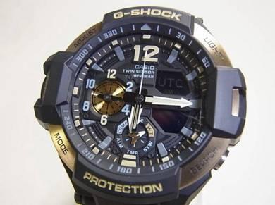 G-SHOCK Gravity Master GA-1100 Gold Black Men New