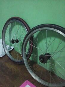 rim aloi silver  basikal
