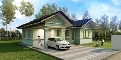 Rumah banglo 1 tingkat untuk dijual (kg kor mulong)