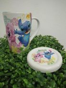 Lilo & Stitch Ceramic Mug with Lid(2D Printing)