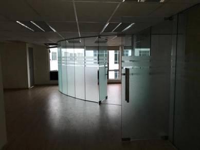 Fully Reno CORNER Shop OFFICE EQuator Taman Equine, Public Bank