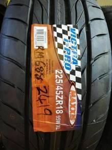 Tayar baru 225 45 18 Maxxis i-pro sport tire