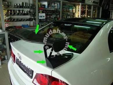 Honda civic fd mugen carbon fibre gt wing spoiler