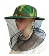 Protective Mesh Net Mask Bee Hat Camouflage