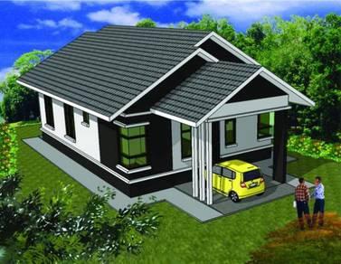 Bina rumah atas tanah sendiri