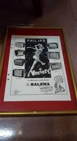 SALOMA Radio Vintage Advertisement Shop RARE coke