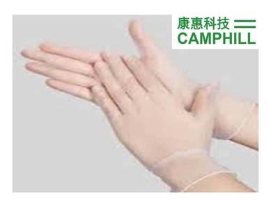 PVC Vinyl CAMCLEAN Disposable Medical Glove M