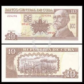Cuba 10 pesos 2014 p new unc