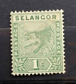 Malaya Selangor 1891-1895 1c SG49 MM BL259