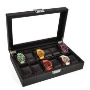 Carbon fiber watch case / storage 12 slots A10