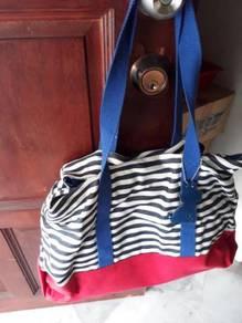Blue n white strap Haandbag