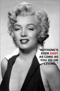 Poster MARILYN MONROE QUOTES N 1