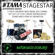 Tama Stage star Drum Kit With Meinl Cymbals-DB