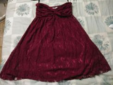 Maroon color Dinner dress