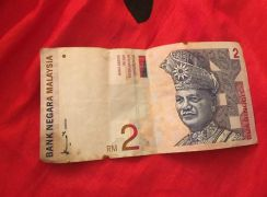 RM1 and RM2 old banknote
