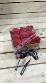 Valentine Gift - Arylic Crystal Flower Box