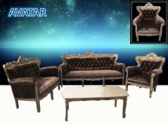 Jati sofa 1+2+3 seater + coffee table - a8376