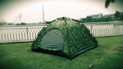 Automatic camping tent 4 person camouflage