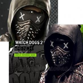 Ubisoft game Watch Dogs 2 Cosplay PVC leather mask