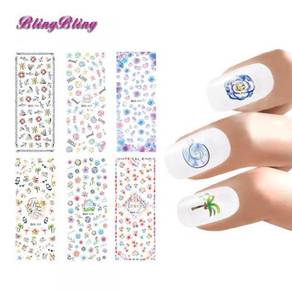 Water decals nail sticker 3d model nail