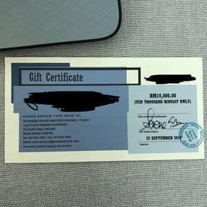 Travel voucher 10k