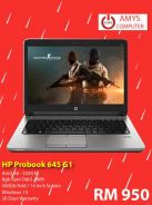 Laptop HP AmD A6 8Gb Ram 500gb hdd di losong