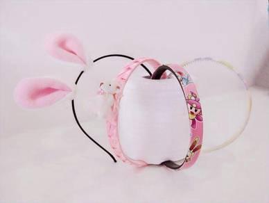 Japanese Simple Little Bear Ear headband assorted