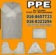 Disposable isolation gown. hospital ppe