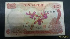 Orchid Series Singapore 10 Dollar