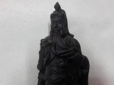 Tall Kuan Kong Wood Figurine
