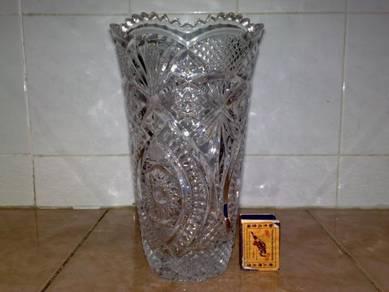 Pasu kristal crystal vase 9.25 inchi
