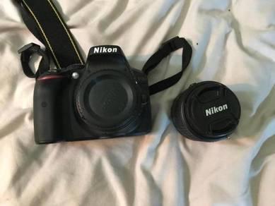 Nikon D5300 with lenses