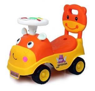 Toddler Baby Cute Cartoon Music Steering Walker