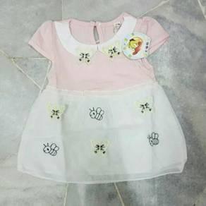 [0~18 Mths] Donald Duck Cap Sleeve Dress ( Pink )