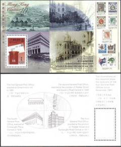 Mail Box Post Office History Hong Kong HK Stamp UM