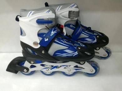Rollerblade kasut roda dewasa kids berlampu blue