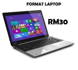 Format Laptop/Komputer RM30
