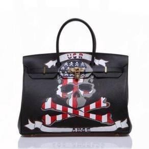 Handbag bag graffiti slingbag black skull RBHB014