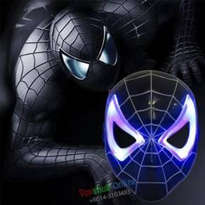 Anime Mask with LED Light (Black Spiderman)
