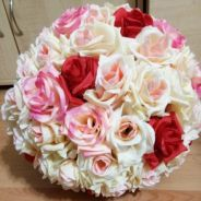 Artificial flower ball