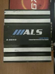 ALS Brand 2 ch 1000 watts car amplifier.
