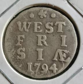 Duit Syiling West Fri Siae 2 Stuiver 1794