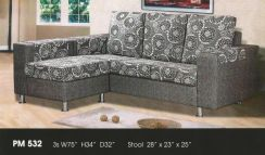 Dimension l-shape sofa-8532
