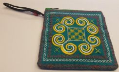 Turquoise coin bag